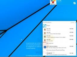 Центр уведомлений Windows 9 в действии