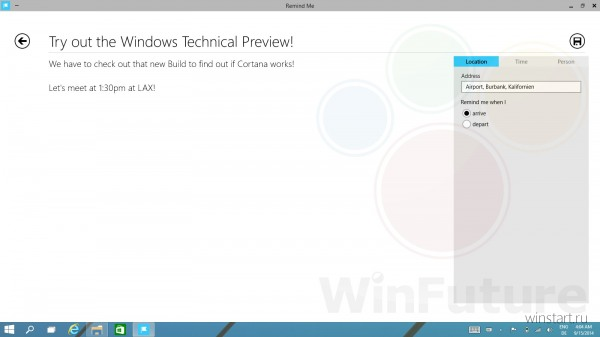 Файлы приложения Cortana обнаружены в Windows Technical Preview