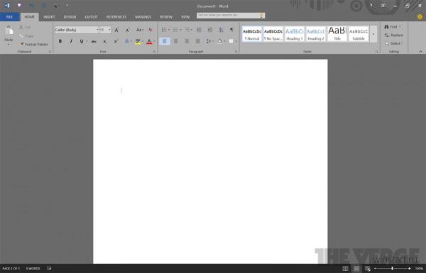 Следующая версия Office получит тёмную тему оформления