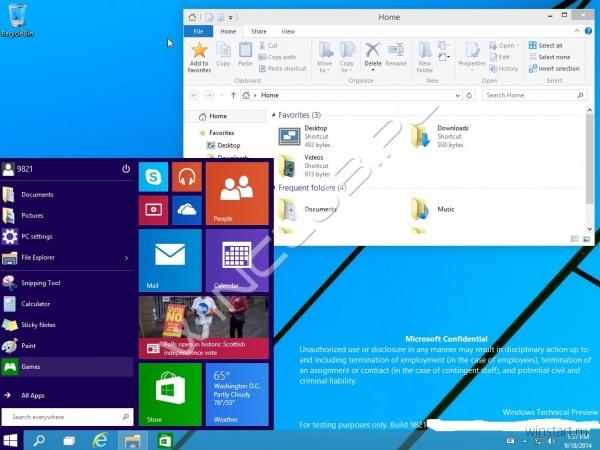 В сети засветилась ещё одна сборка Windows Technical Preview