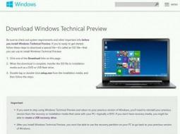 Windows Technical Preview: две редакции, 32- и 64-битные версии