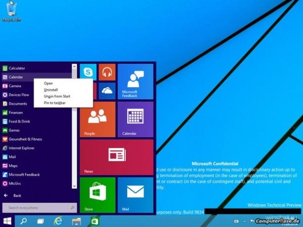 Финальной версией Windows Technical Preview может стать сборка с номером 9841