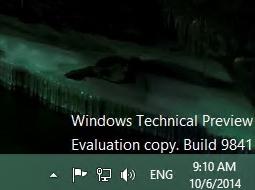 Работа над Windows 10 идёт активно, собрана сборка с номером 9855