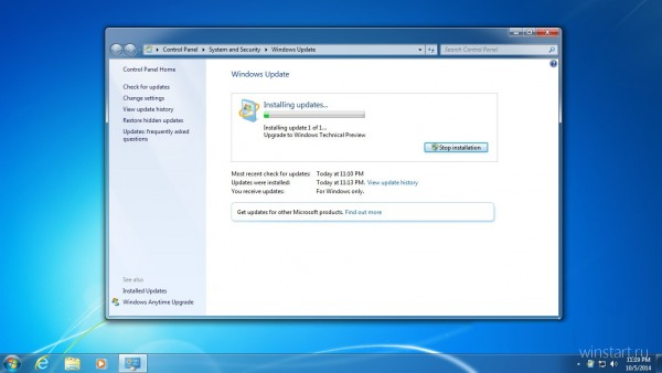Windows 7 ����� �������� �� Windows Technical Preview ����� ����� ����������