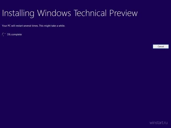 Как быстро переустановить Windows 10 Technical Preview?