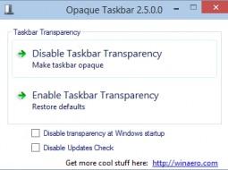 Opaque Taskbar — отключаем прозрачность панели задач