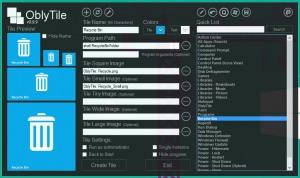 OblyTile — создаём свои плитки для начального экрана и меню Пуск
